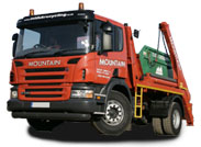 Truck from Mountain Skip Hire